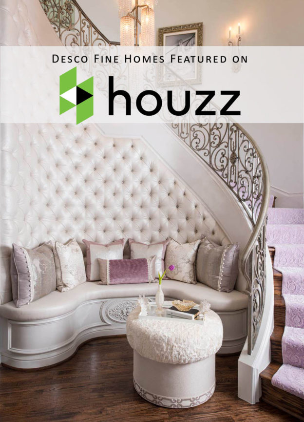 Desco Fine Homes' staircase was second most popular staircase photo on Houzz in 2016!