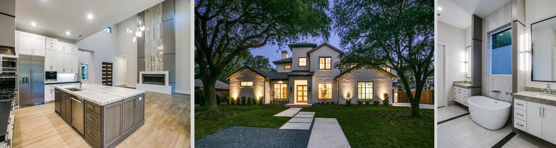 New Custom Built Home by Desco Fine Homes in the Preston Hollow area of Dallas.