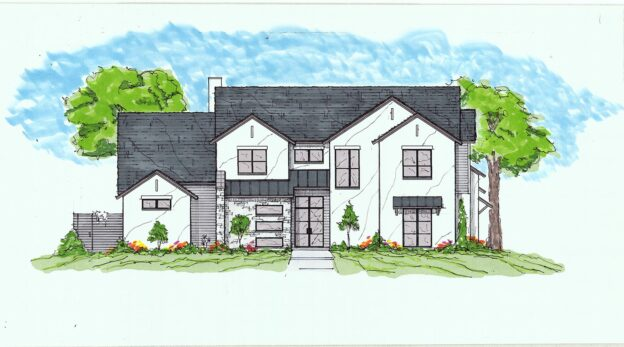For Sale: New Custom Home at 5861 Meletio Lane in North Dallas, TX (Drawing is concept only)
