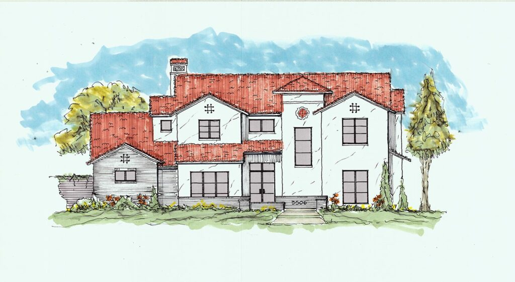 For Sale: New Custom Home at 5506 Charlestown Drive, Dallas, TX 75230 (Drawing is concept only)